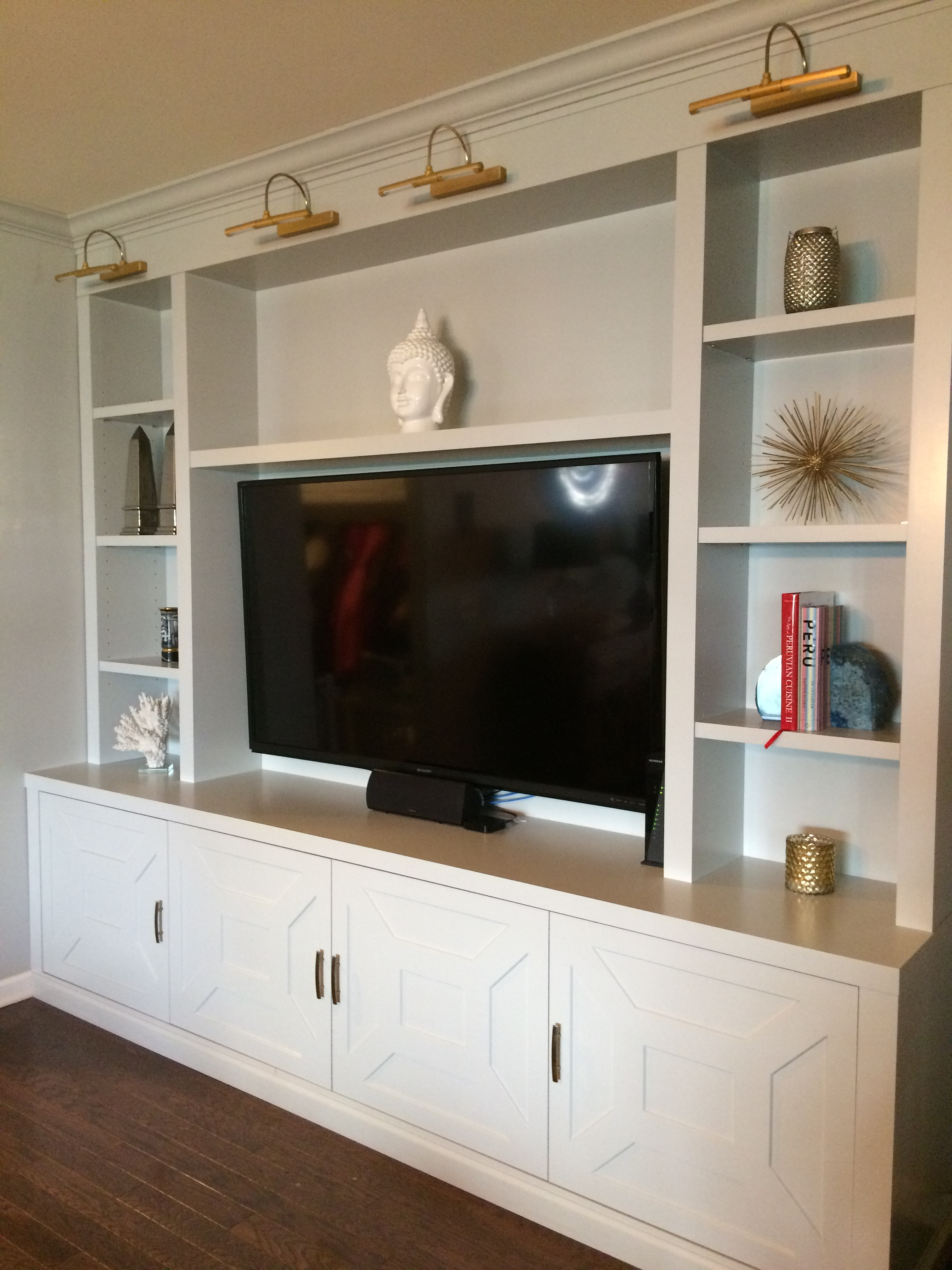 Gray Lacquered Entertainment Cabinet